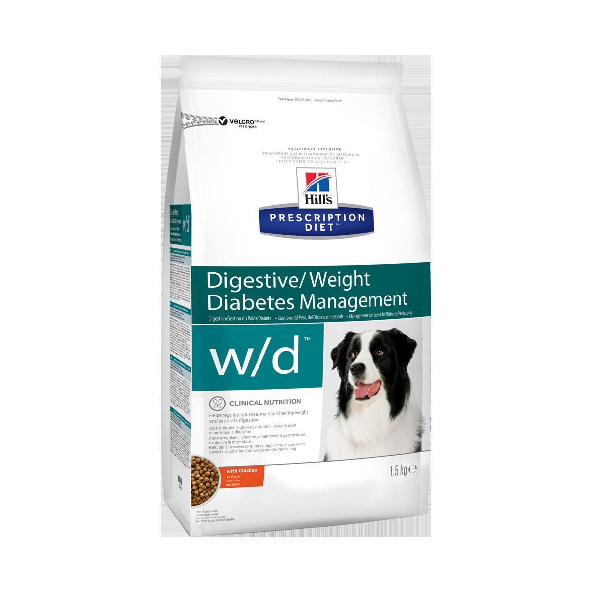 Hill's PD w/d Корм-диета для собак для поддержания оптимального веса при диабете