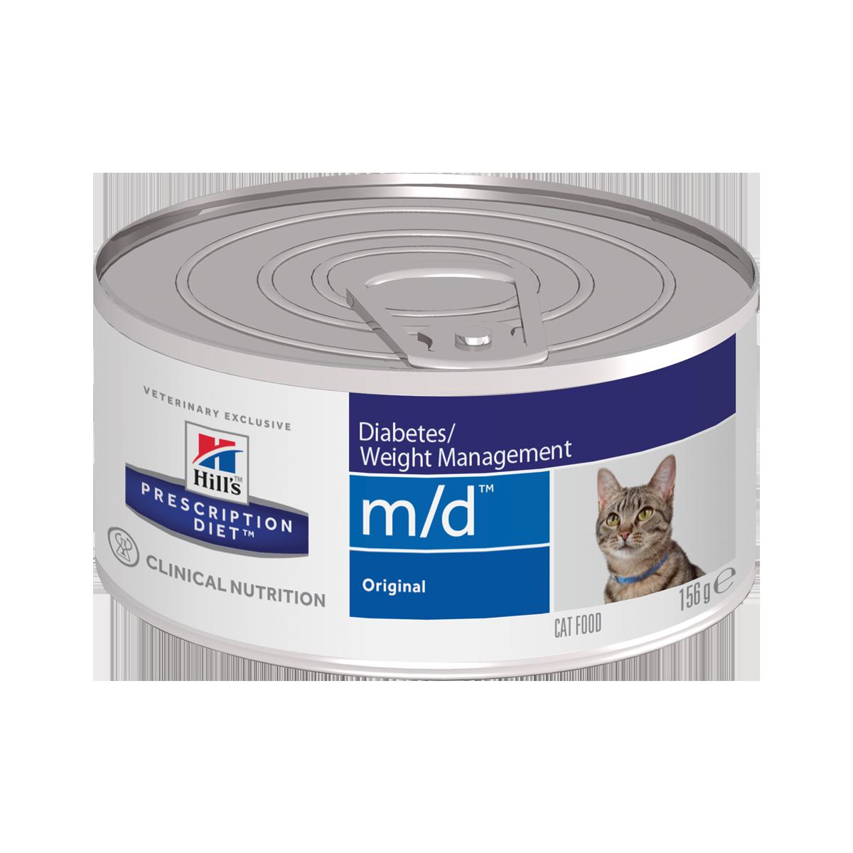Hill's PD m/d Консервы-диета для кошек при диабете