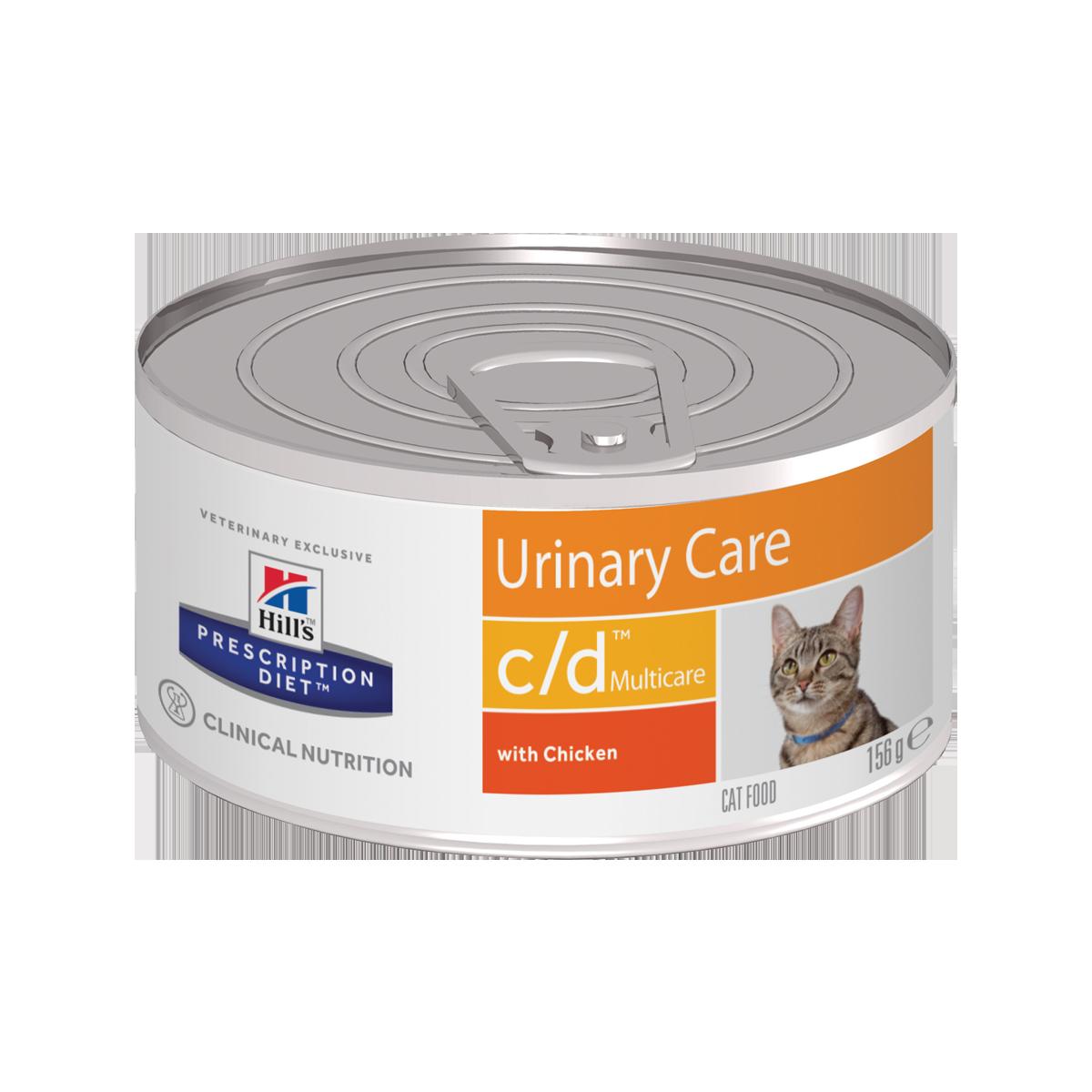 Hill's PD c/d Multicare Консервы-диета для кошек при урологическом синдроме, с курицей