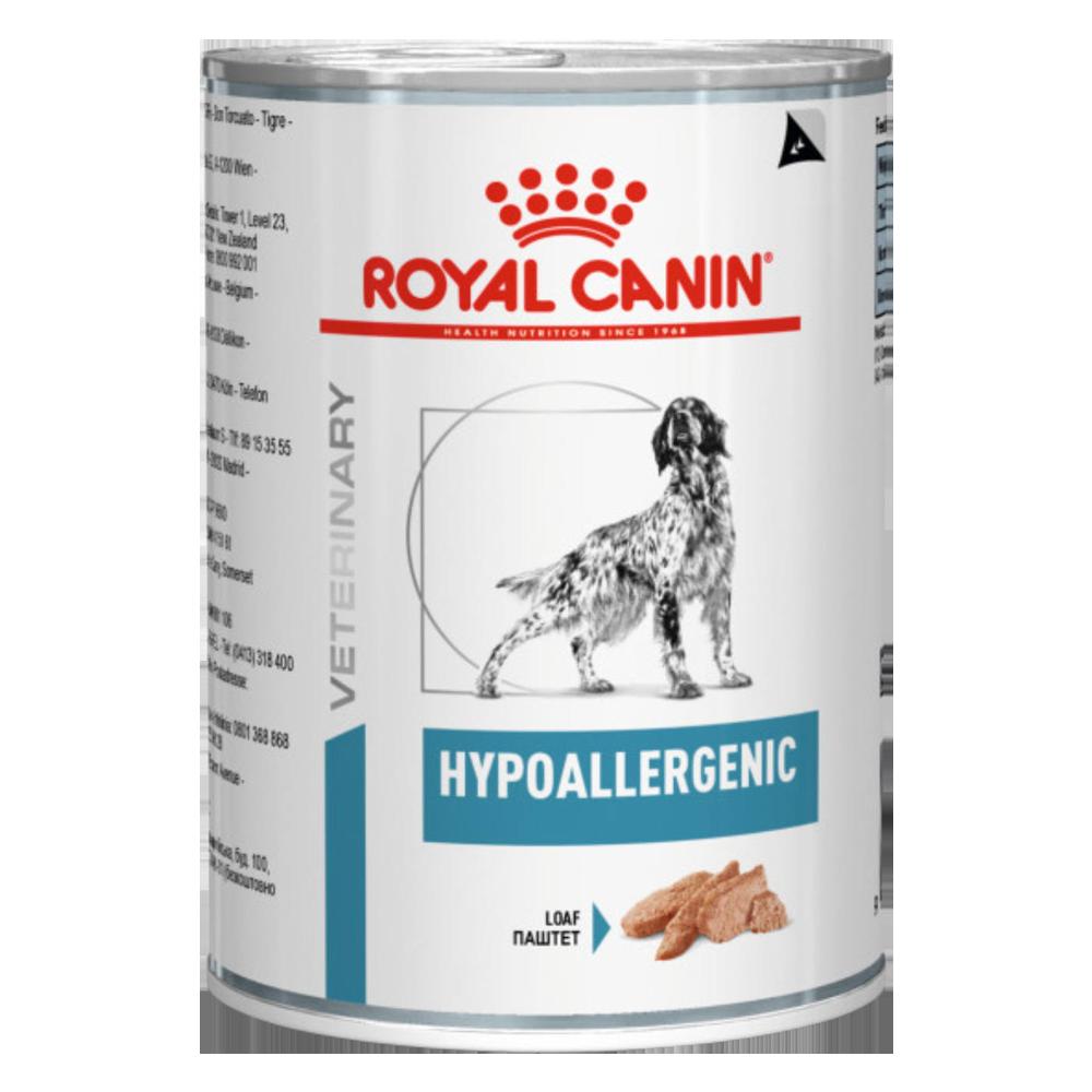 Royal Canin Hypoallergenic Консервы-диета для собак при пищевой аллергии, паштет