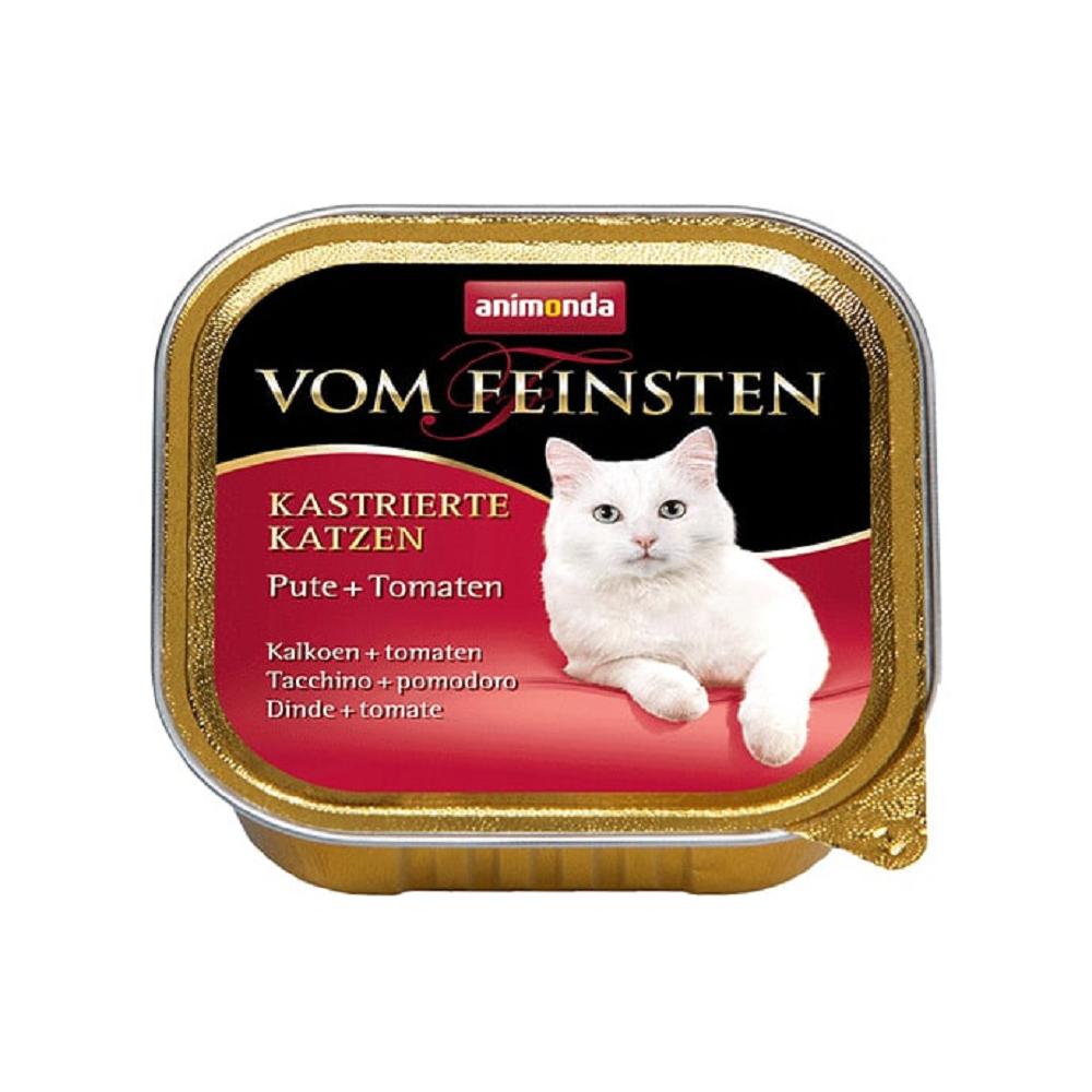 Vom Feinsten консервы для взрослых стерилизованных кошек паштет с индейкой и томатами