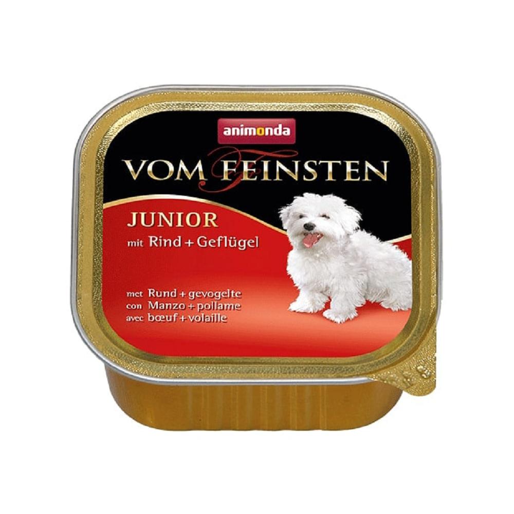 Vom Feinsten Консервы для щенков Паштет с говядиной и домашней птицей
