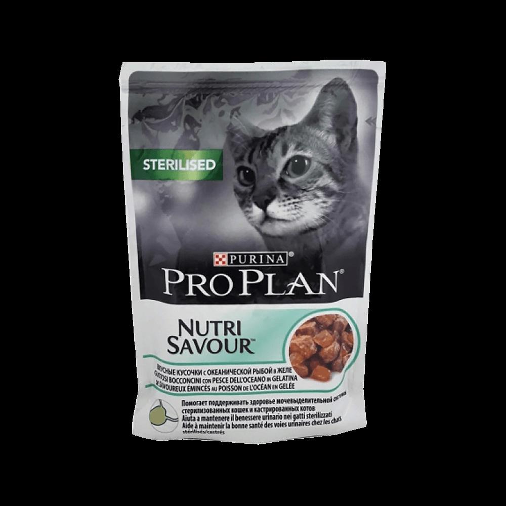 Pro Plan Пресервы для взрослых стерилизованных кошек, с океанической рыбой в желе