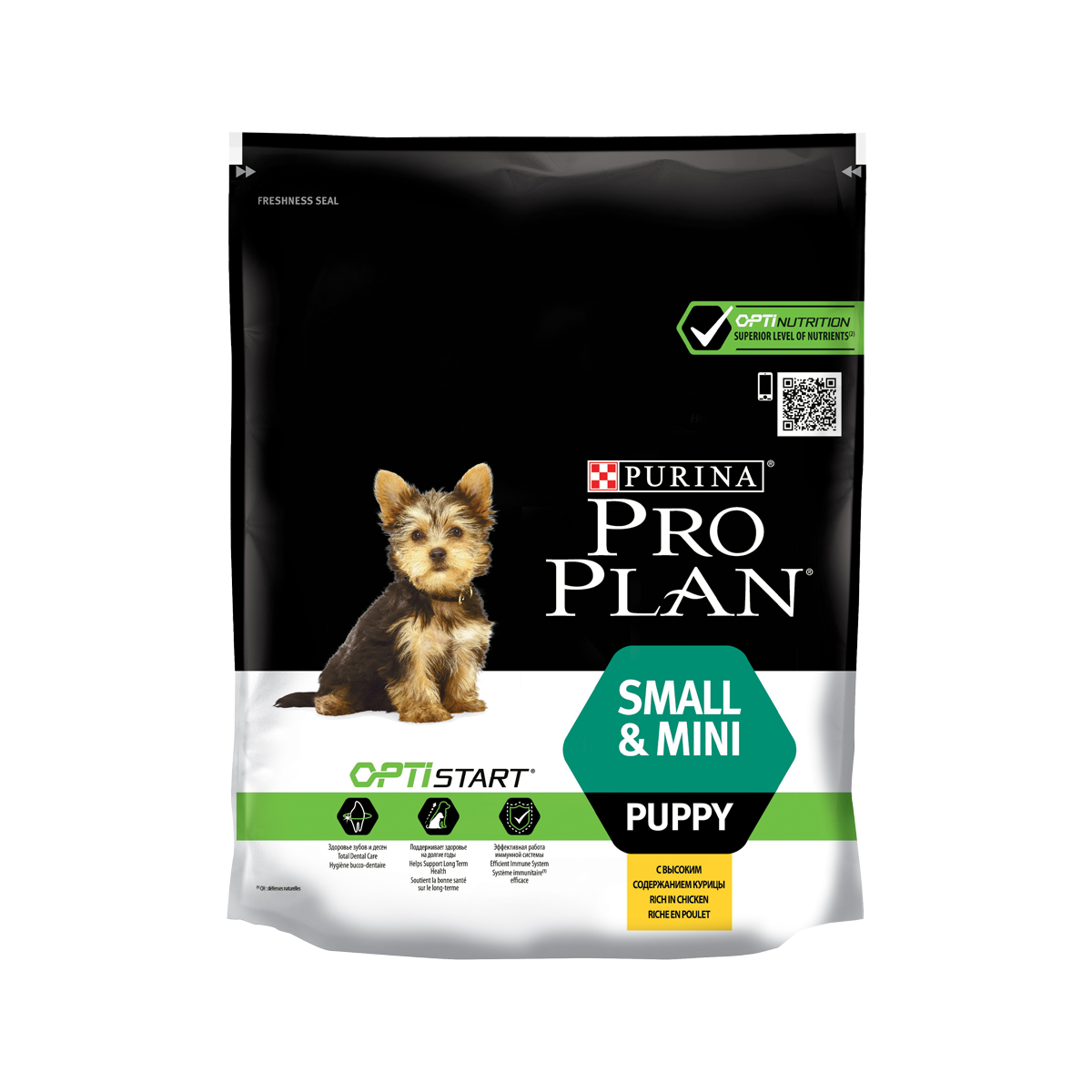 Pro Plan Корм для щенков мелких пород с курицей и рисом
