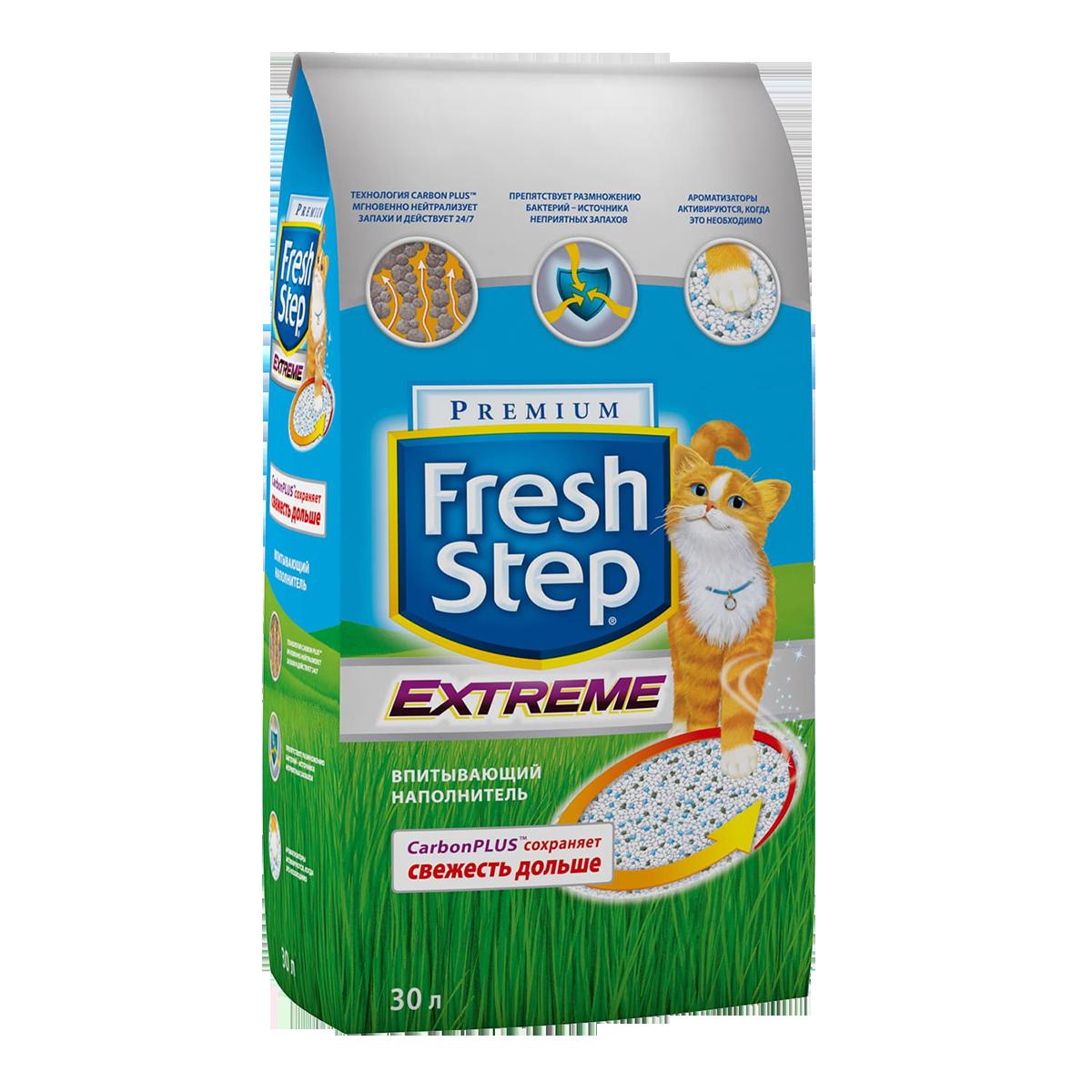 Fresh Step Extreme Наполнитель минеральный впитывающий