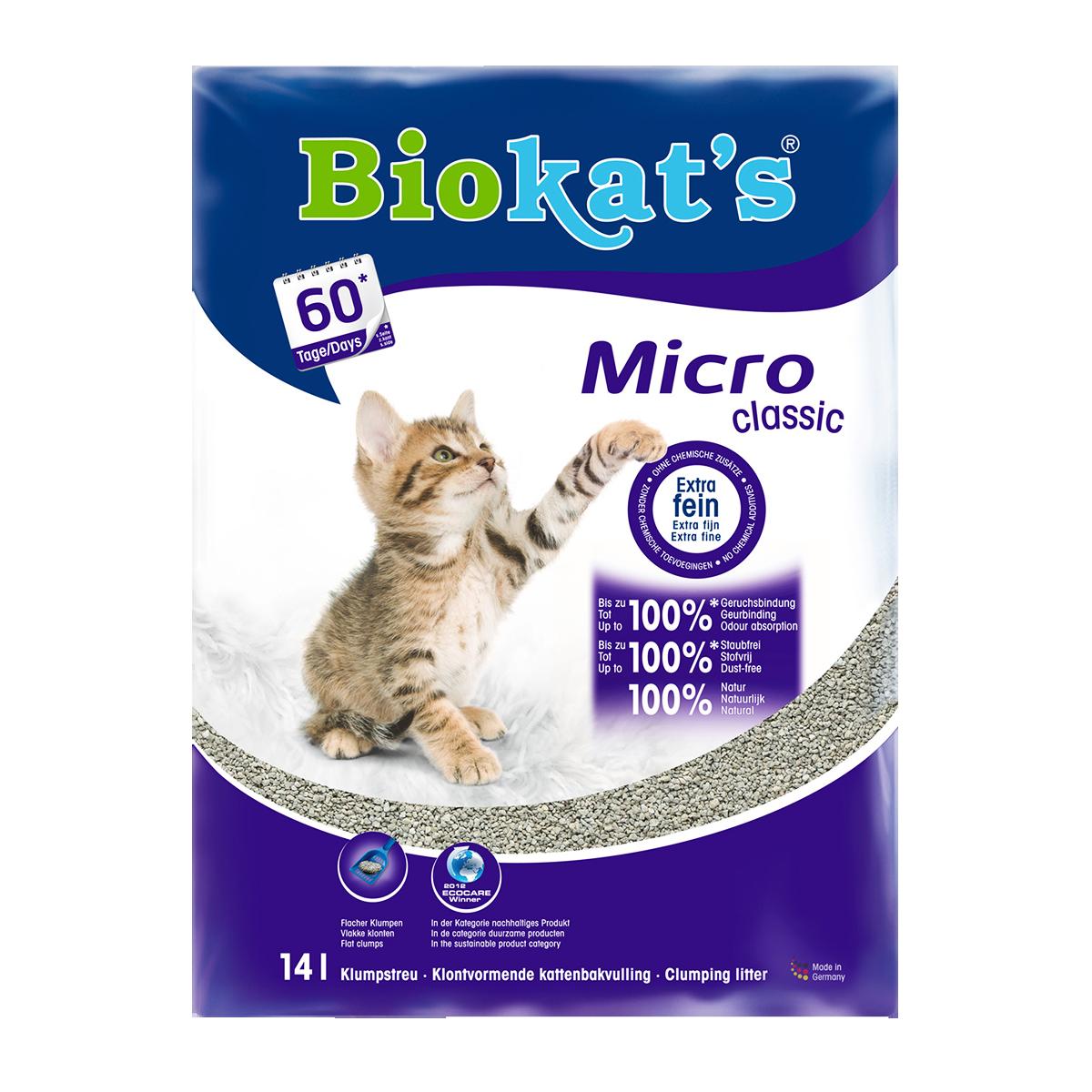 Biokat's Micro Classic Наполнитель минеральный комкующийся