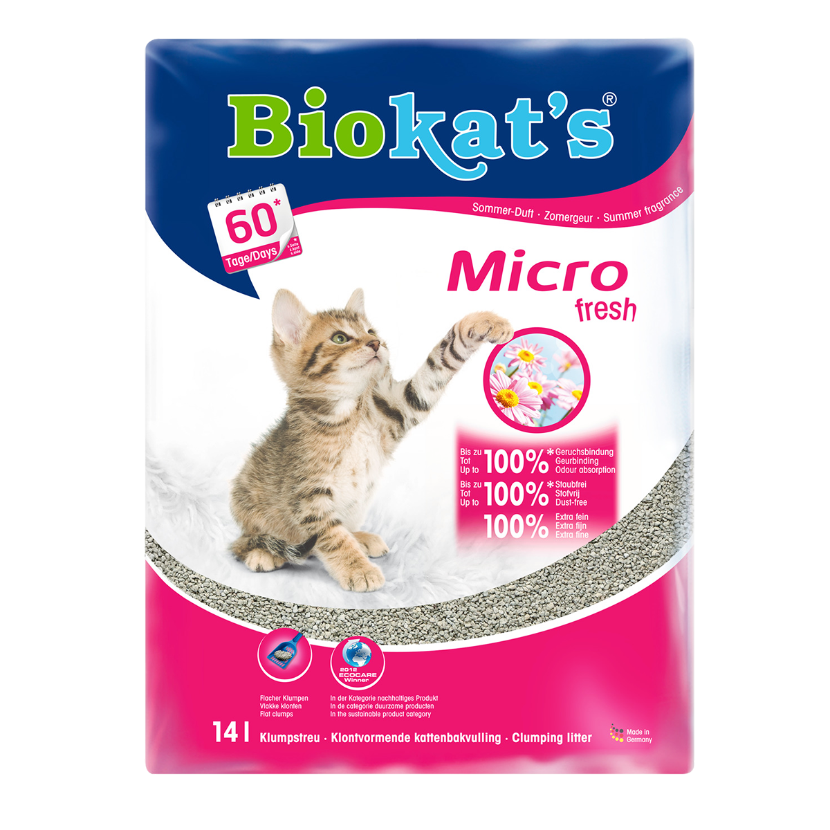 Biokat's Micro fresh Наполнитель минеральный комкующийся