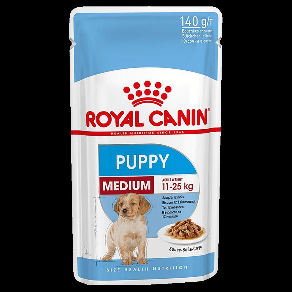 Royal Canin Пресервы для щенков средних пород в соусе