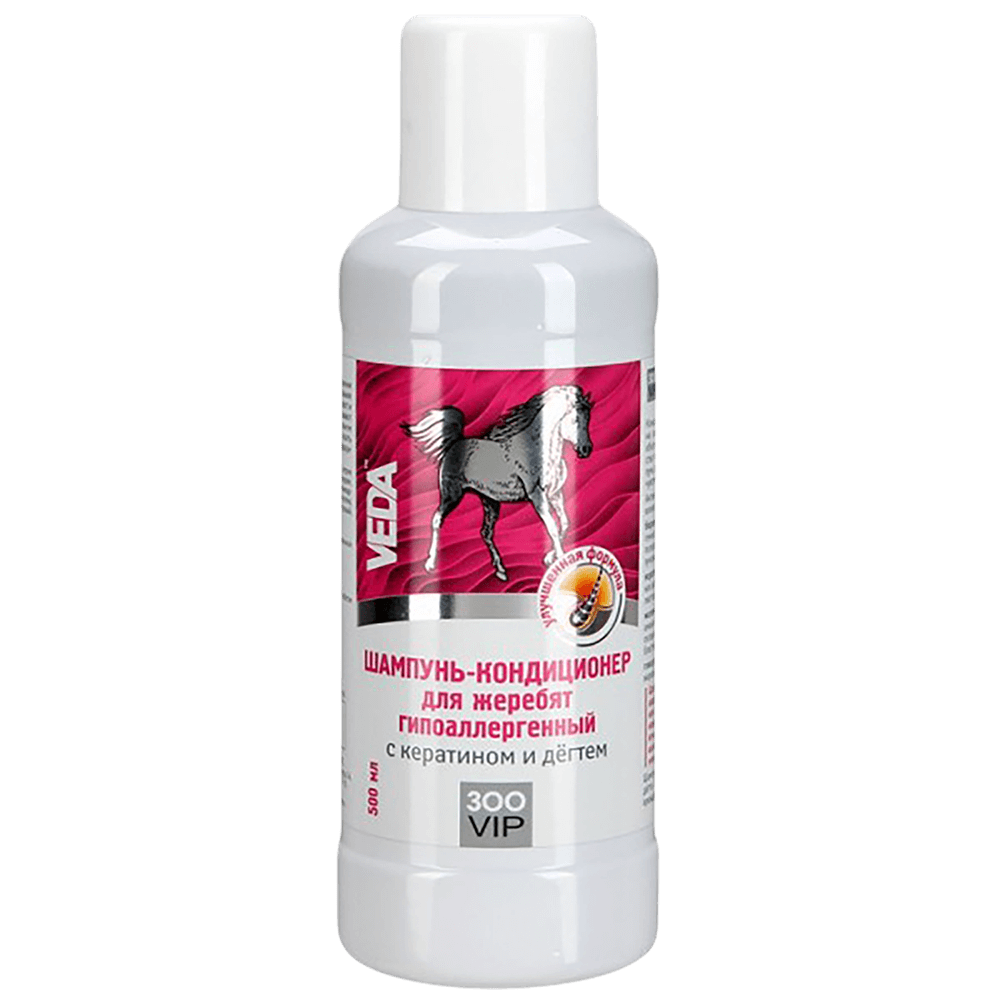 Veda Шампунь-бальзам для жеребят гипоаллергенный с кератином и дегтем