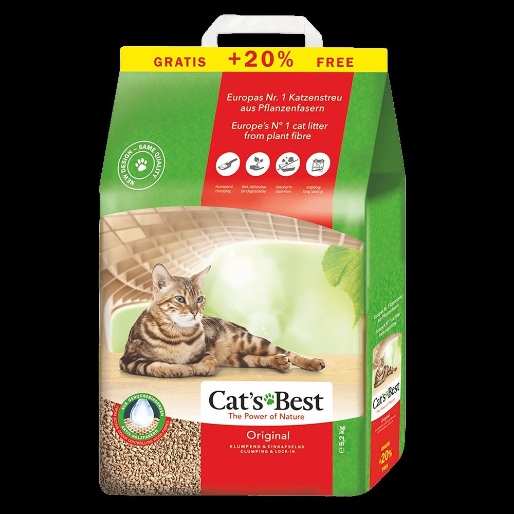Cat's Best Original Наполнитель древесный комкующийся 10 л + 2 л