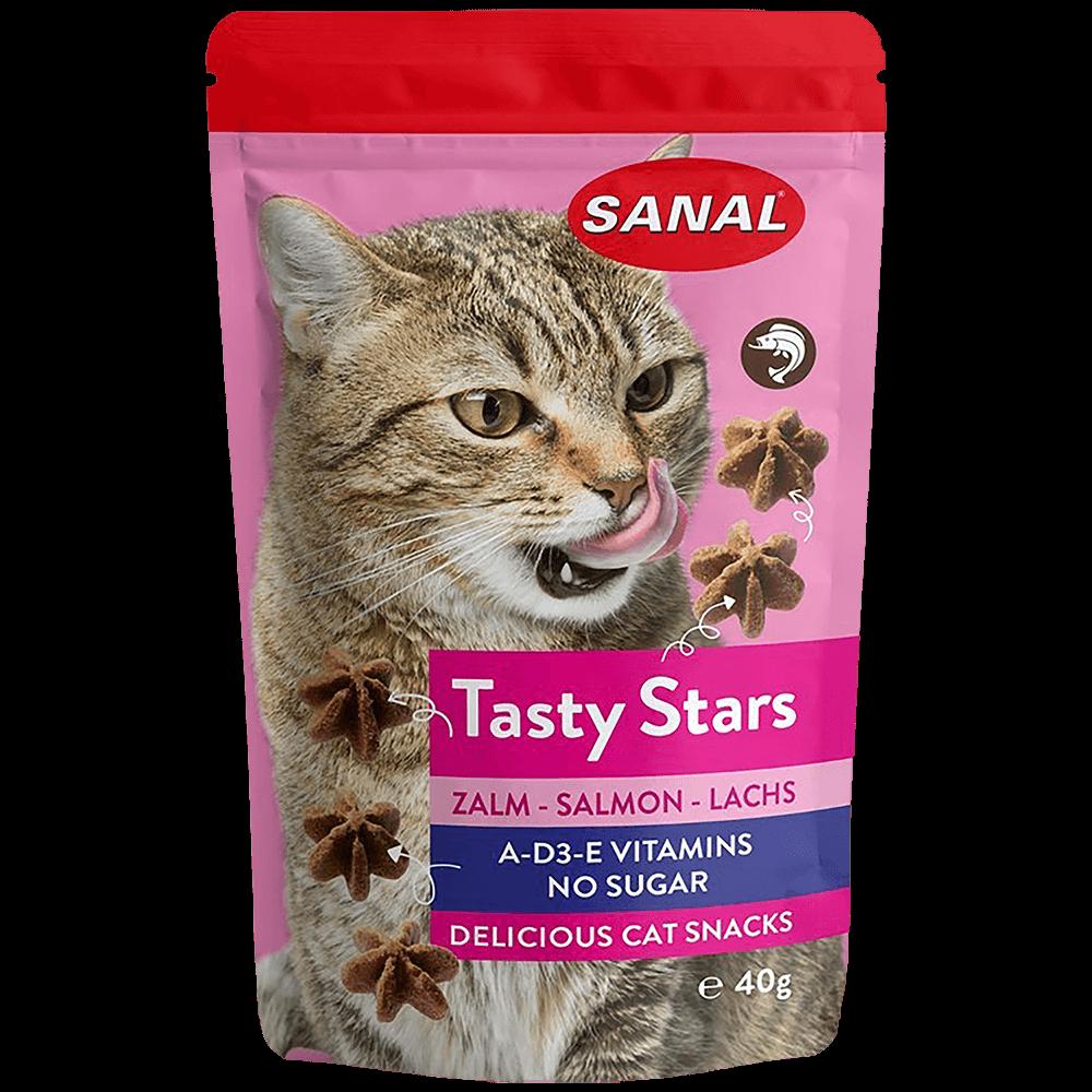 SANAL Tasty Stars Вкусные звездочки для кошек с лососем