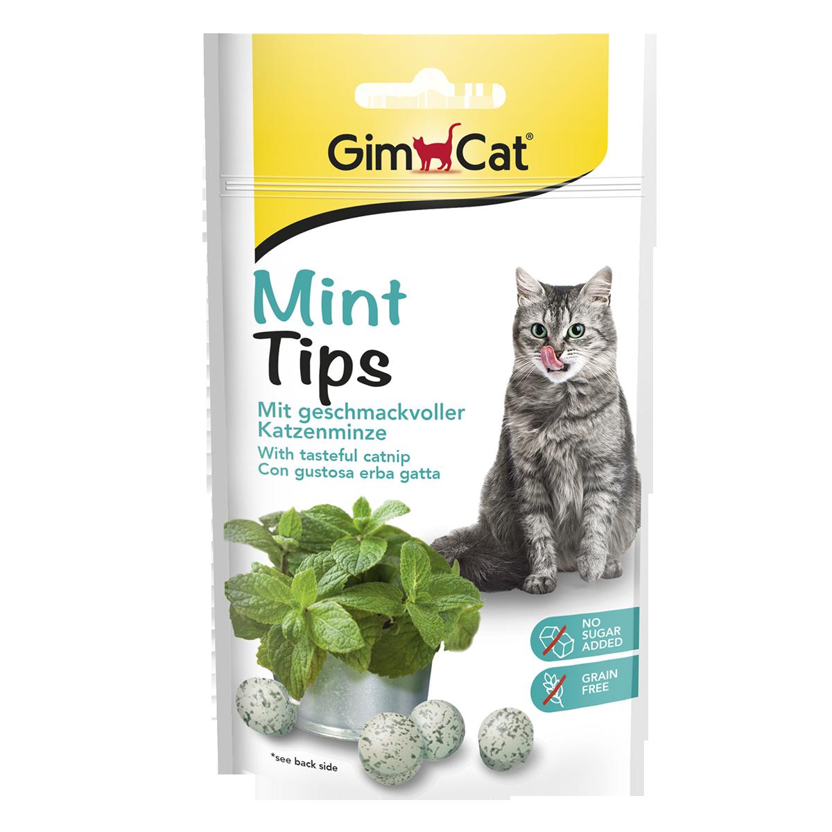 GimCat Mintips Витаминное лакомство с кашачьей мятой
