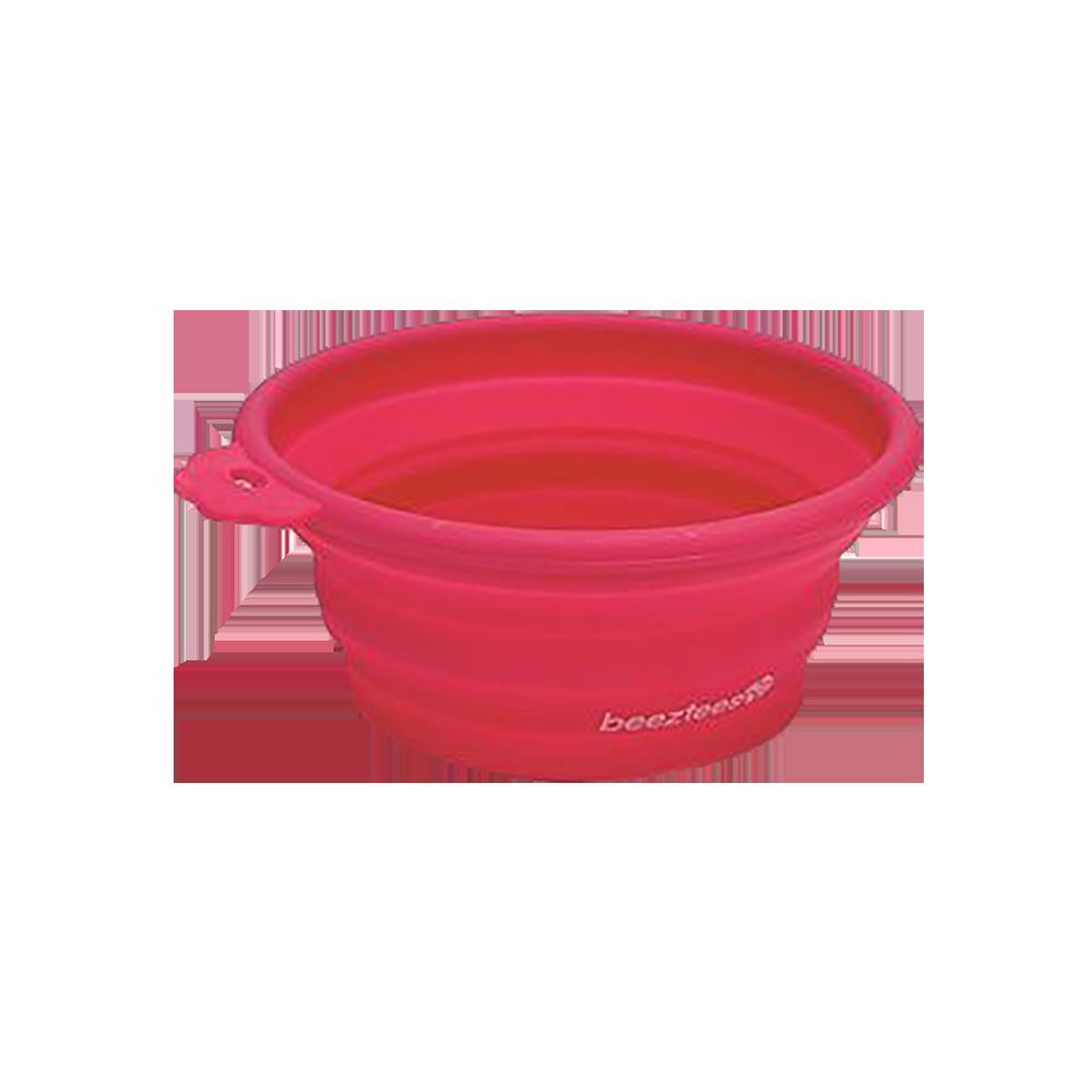 Beeztees Кормушка силиконовая, розовая