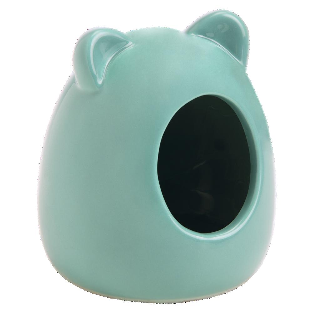 Beeztees Домик для грызунов керамический цвет мята