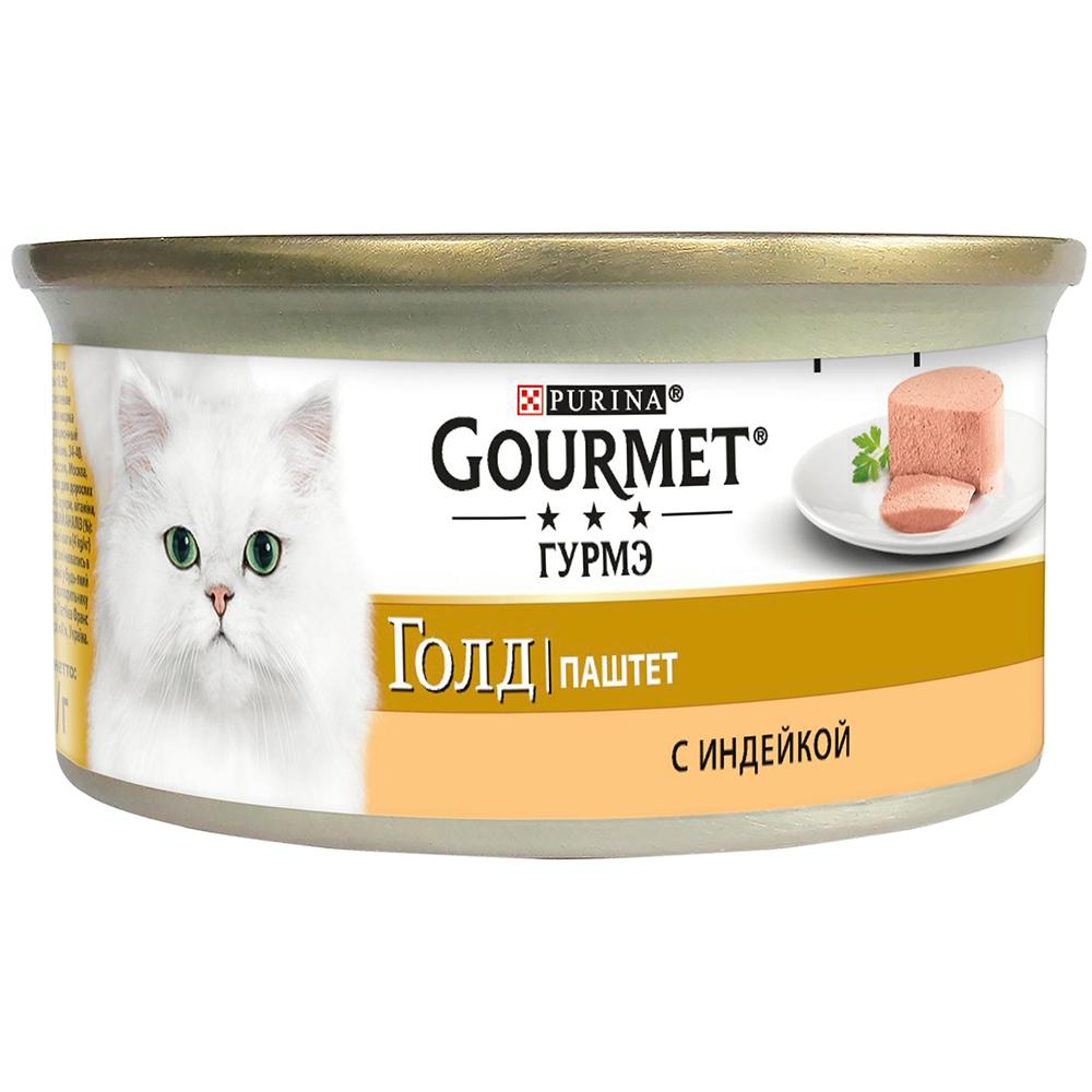 Pro Plan Gourmet Гурмэ Голд Консервы для взрослых кошек, паштет с индейкой