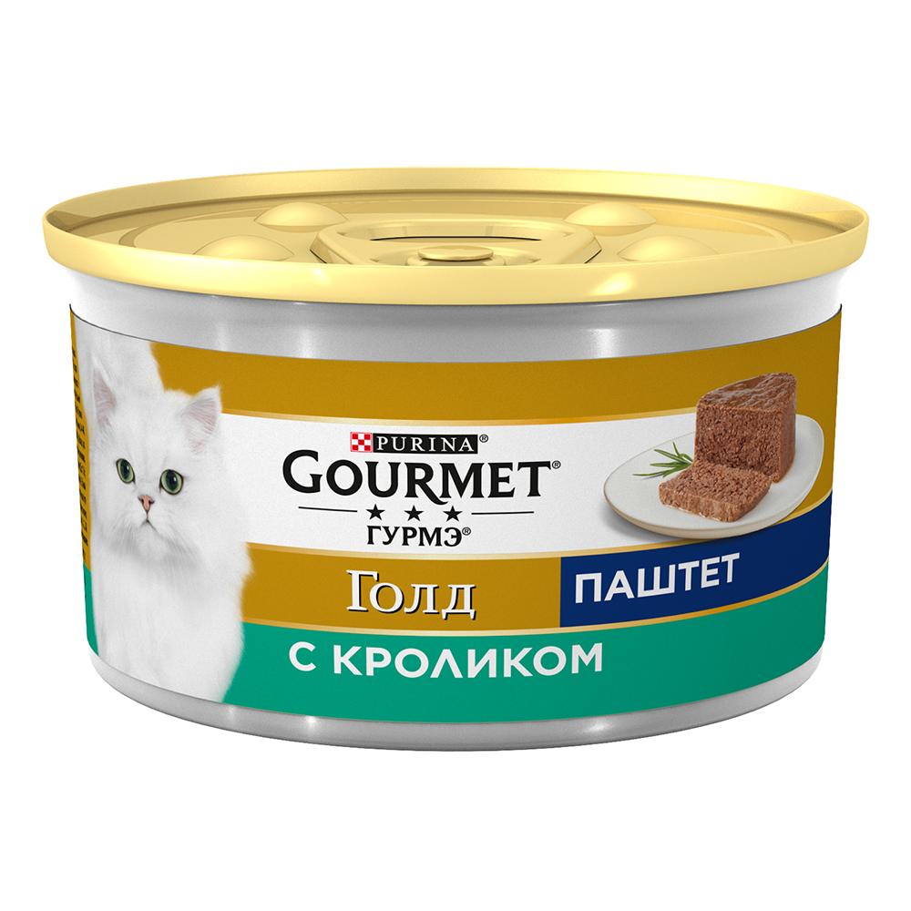 Pro Plan Gourmet Гурмэ Голд Консервы для взрослых кошек, паштет с кроликом