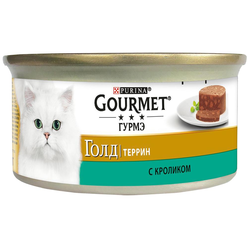 Pro Plan Gourmet Гурмэ Голд Консервы для взрослых кошек, террин с кроликом по-французски