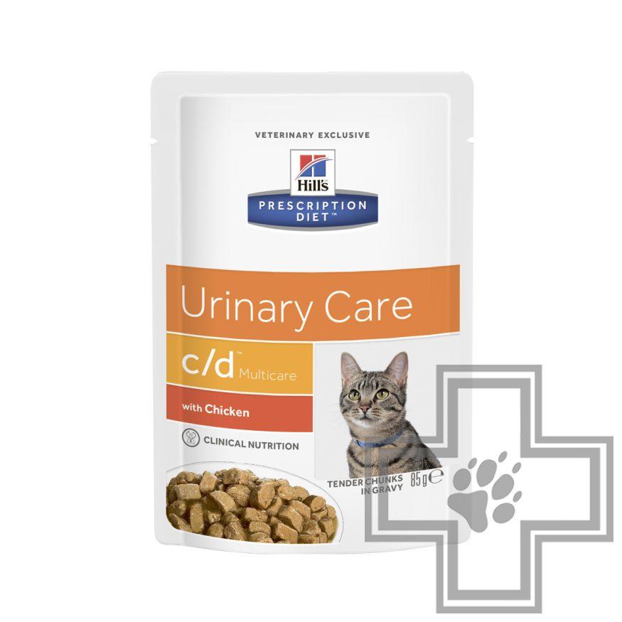 Hill's PD c/d Multicare Пресервы-диета для кошек при урологическом синдроме, с курицей