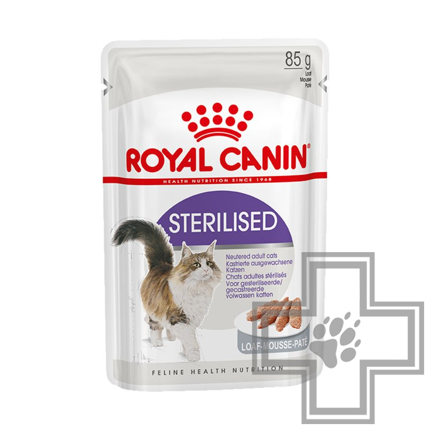 Royal Canin Sterilised Пресервы для взрослых стерилизованных кошек, паштет