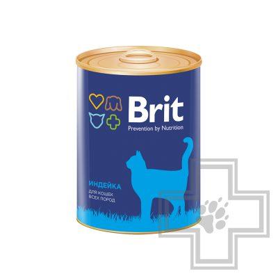 Brit Консервы для взрослых кошек, паштет с индейкой