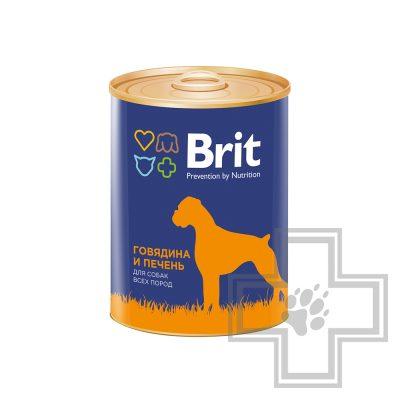 Brit Консервы для взрослых собак, паштет с говядиной и печенью