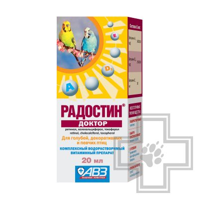 Радостин Доктор витаминный препарат для птиц