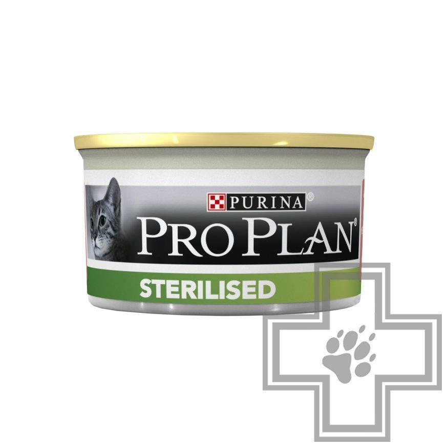 Pro Plan Консервы для взрослых стерилизованных кошек, паштет с тунцом и лососем