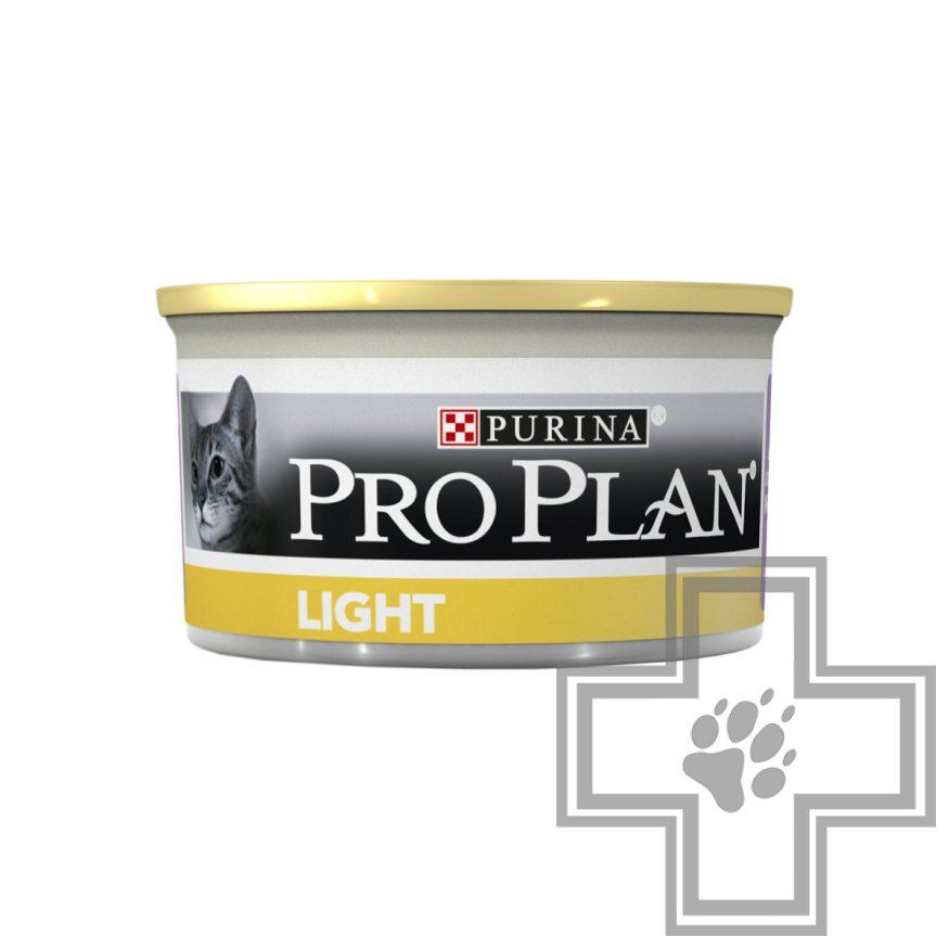 Pro Plan Консервы для взрослых кошек с избыточным весом, паштет с индейкой