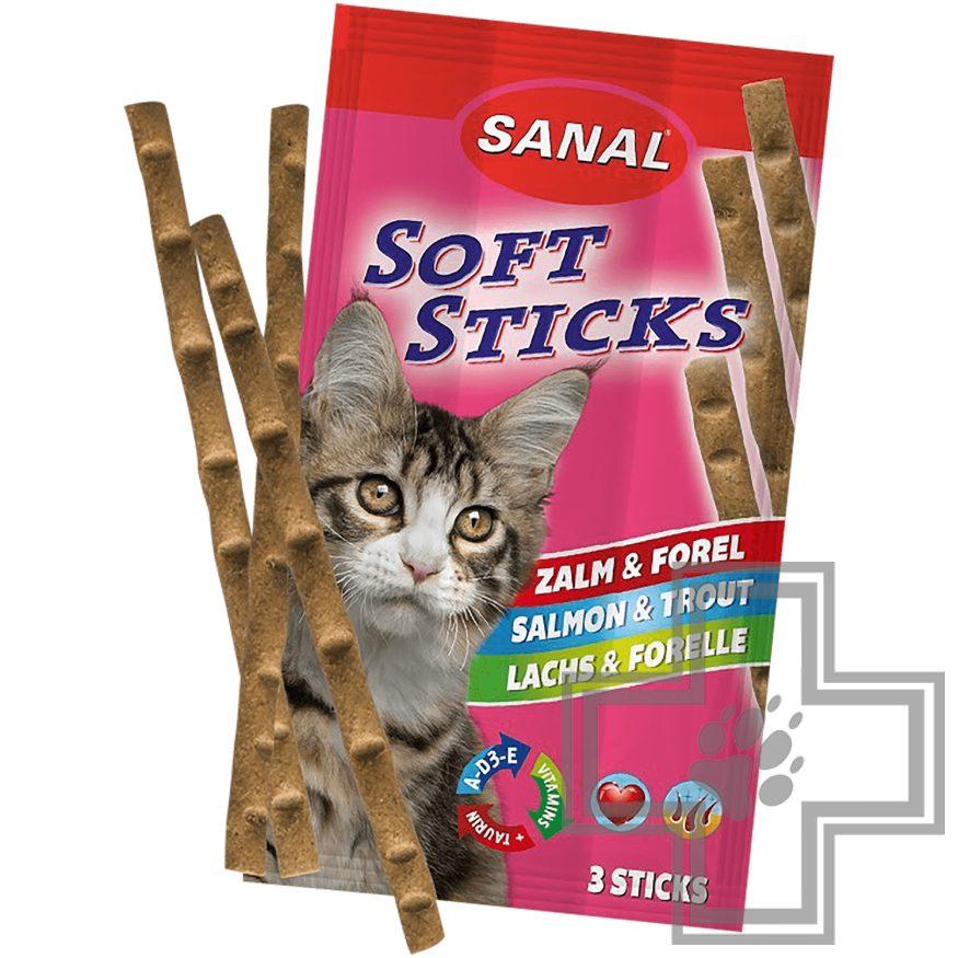 SANAL Soft Sticks Salmon & Trout Палочки для кошек с лососем и форелью (3 шт.)