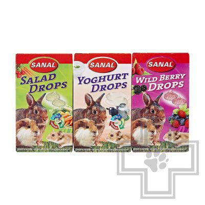 SANAL 3-Pack Drops Дропсы 3-микс для грызунов (цена за 1 коробку)