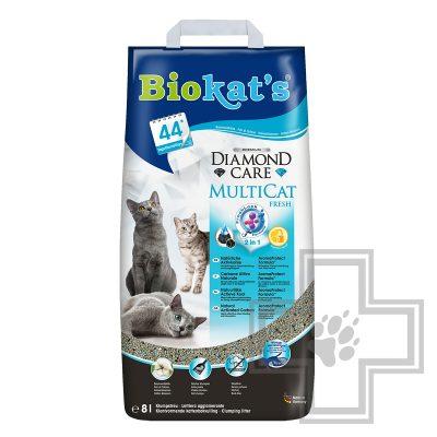 Biokat's Diamond Care Multicat Fresh Наполнитель минеральный комкующийся