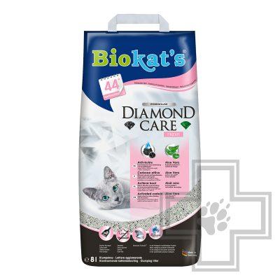 Biokat's Diamond Care Fresh Наполнитель минеральный комкующийся