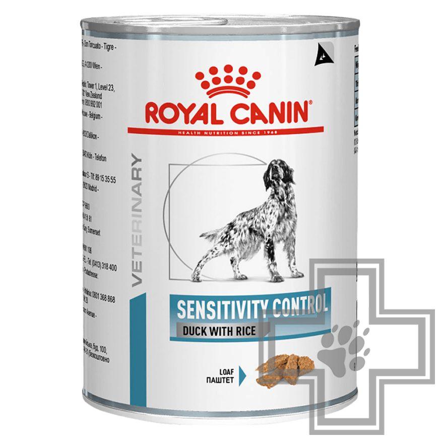 Royal Canin Sensitivity Control Консервы-диета для собак с чувствительным пищеварением, с уткой