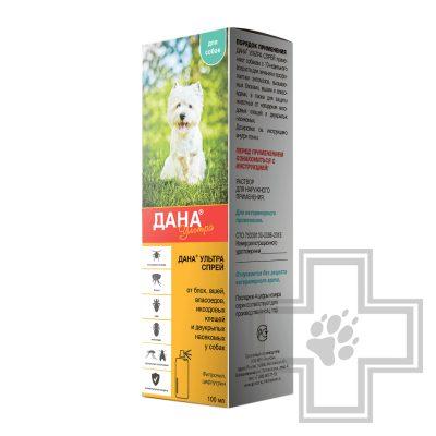 Дана Ультра Противопаразитарный спрей для собак