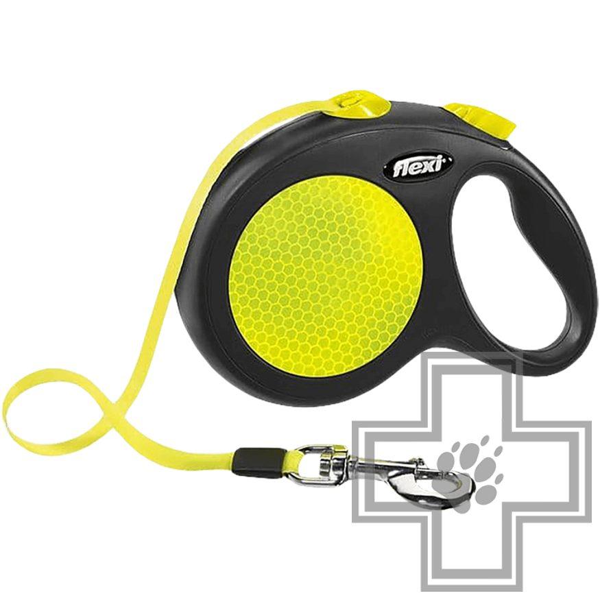 Flexi New Neon Поводок-рулетка ременная
