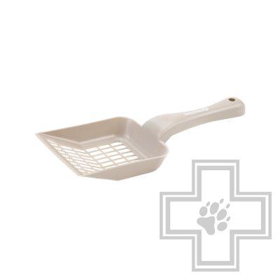 Beeztees Совок для кошачьего туалета крупный, бежевый