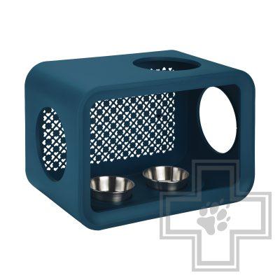 Beeztees Обеденный куб для кота, темно-бирюзовый