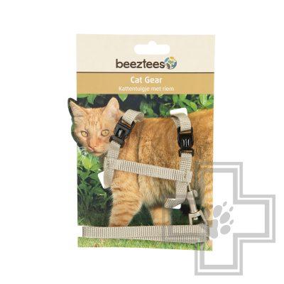 Beeztees Шлейка с поводком для кошек Uni