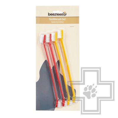 Beeztees Набор зубных щеток для собак, 4 штуки