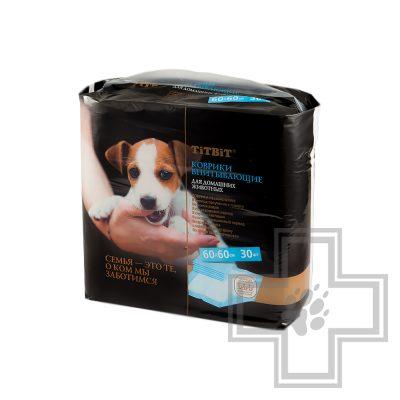 TiTBiT Коврик впитывающий для животных, 60 x 60 см (цена за 1 коврик)