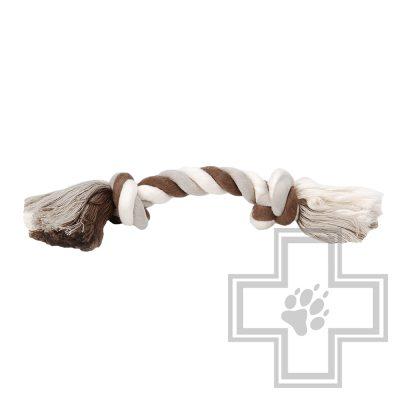 Beeztees Игрушка для собак Канат с 2-мя узлами, разноцветный