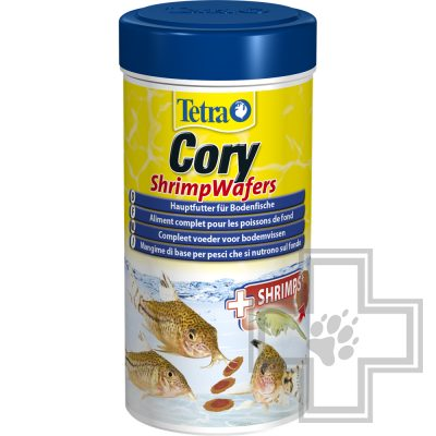 Tetra Cory Shrimp Wafers двухцветный корм для донных рыб