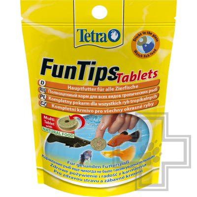 Tetra FunTips Tablets сбалансированный корм в виде приклеивающихся таблеток для тропических рыб