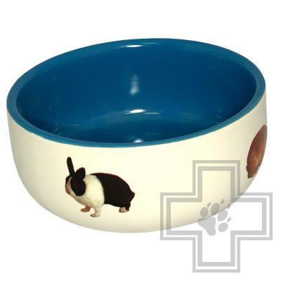 Beeztees миска керамическая с изображением кролика
