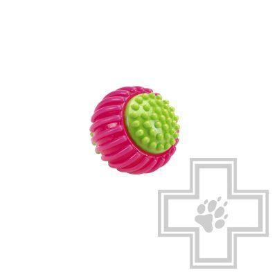 """Beeztees """"Мяч резиновый ребристый"""" розовый"""