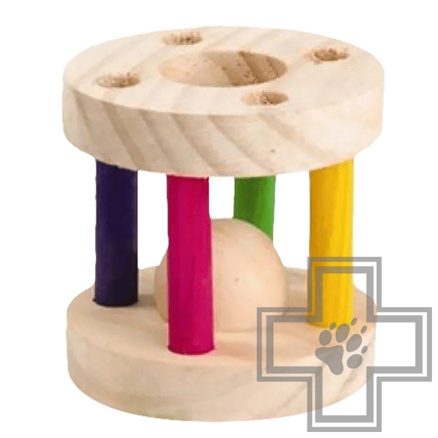 Beeztees Игрушка для грызунов деревянный барабан