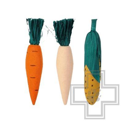 Beeztees Игрушка для грызунов деревянные овощи