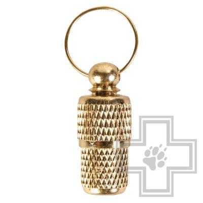Beeztees Адресник для собак золотистый, 26 мм