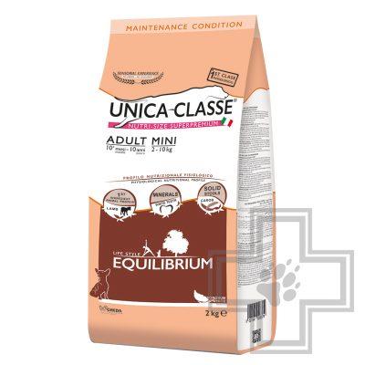 Unica ClasseAdult Mini Equilibrium Корм для собак мелких пород с ягненком