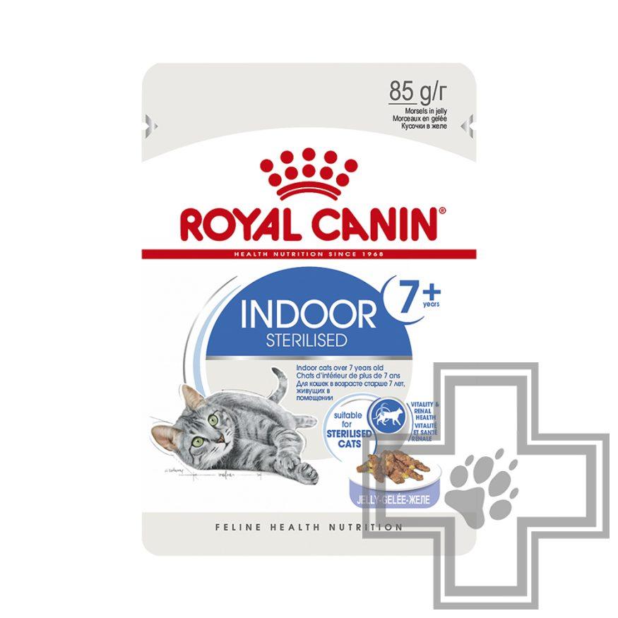 Royal Canin Indoor Sterilised +7 Пресервы в желе для домашних стерилизованных кошек старше 7 лет
